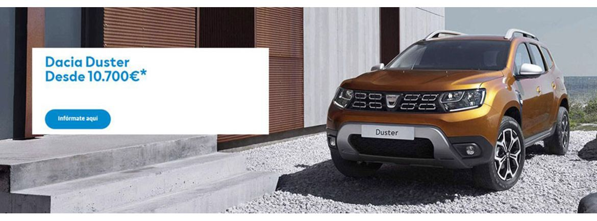 duster desde 10700 banner
